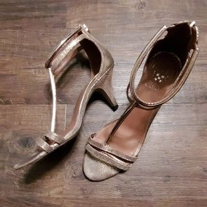 Vince Camuto Gold Strap Heels